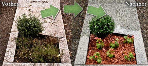 Grabpflege in Neuwied mit Grabbepflanzung